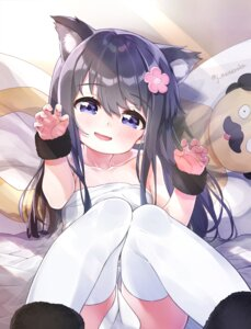 Rating: Safe Score: 36 Tags: animal_ears dress nekomimi shirosaki_hana tagme thighhighs watashi_ni_tenshi_ga_maiorita! User: BattlequeenYume