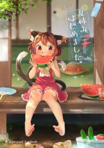 Rating: Safe Score: 14 Tags: animal_ears chen ibaraki_natou tail touhou User: Mr_GT