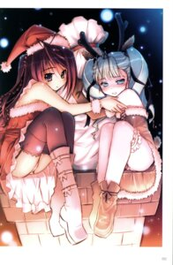 Rating: Safe Score: 31 Tags: akata_itsuki christmas cocoro_navi garter pantsu stockings thighhighs User: blooregardo