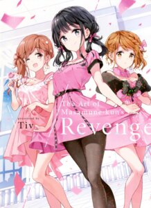 Rating: Safe Score: 103 Tags: adagaki_aki cleavage dress fujinomiya_neko koiwai_yoshino masamune-kun_no_revenge pantyhose skirt_lift tiv User: Twinsenzw