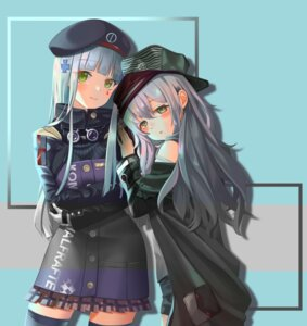 Rating: Safe Score: 15 Tags: breast_hold g11_(girls_frontline) girls_frontline gonzz hk416_(girls_frontline) thighhighs uniform User: yanis