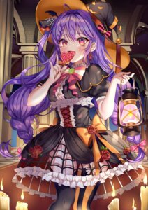 Rating: Questionable Score: 11 Tags: aina_156cm dress gothic_lolita halloween lolita_fashion stockings tagme thighhighs witch User: BattlequeenYume
