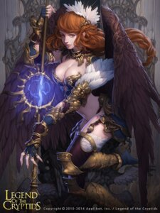 Rating: Safe Score: 39 Tags: armor bikini_armor cleavage heels lange legend_of_the_cryptids thighhighs weapon wings User: blooregardo