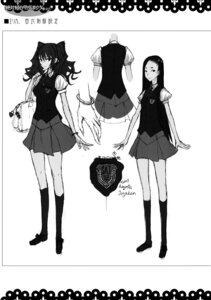 Rating: Safe Score: 4 Tags: character_design honjou_raita kuramoto_erika mahou_shoujo_(raita) monochrome nitta_yui seifuku sketch zettai_shoujo User: Radioactive