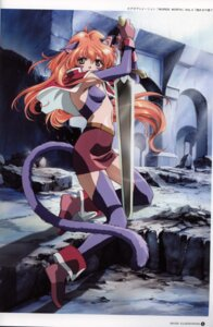 Rating: Safe Score: 15 Tags: animal_ears nekomimi nina rin_sin sword tail words_worth User: Blindseer