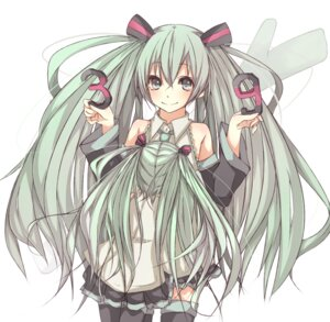 Rating: Safe Score: 12 Tags: hatsune_miku thighhighs vocaloid yaduki User: Radioactive
