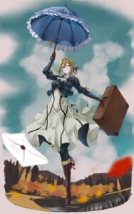 Rating: Safe Score: 17 Tags: dress heels numaguro_(tomokun0808) umbrella violet_evergarden violet_evergarden_(character) User: saemonnokami