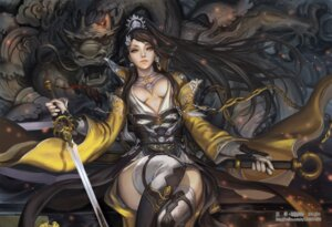 Rating: Safe Score: 37 Tags: cleavage no_bra thighhighs xiaji User: blooregardo