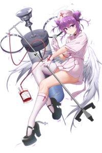 Rating: Safe Score: 32 Tags: angel blood heels kafeifeifeifeifeifei_jiemo_jun nurse skirt_lift thighhighs wings User: BattlequeenYume