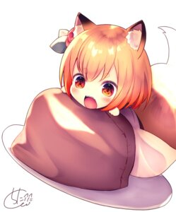 Rating: Safe Score: 24 Tags: animal_ears chibi chita_(ketchup) tail User: BattlequeenYume