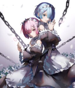 Rating: Safe Score: 61 Tags: cleavage eredhen maid ram_(re_zero) re_zero_kara_hajimeru_isekai_seikatsu rem_(re_zero) User: Mr_GT