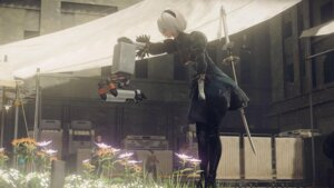 Rating: Safe Score: 66 Tags: cap cleavage dress nier_(series) nier_automata sword yorha_no.2_type_b yoshida_akihiko User: Genex