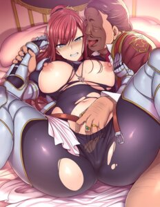 Rating: Explicit Score: 39 Tags: aiue_oka armor bodysuit breasts fingering nipples no_bra pantsu torn_clothes User: john.doe