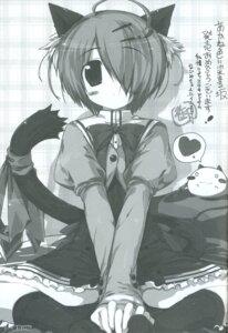 Rating: Safe Score: 8 Tags: akane_iro_ni_somaru_saka animal_ears monochrome nekomimi oshiki_hitoshi seifuku shiraishi_nagomi tail User: admin2
