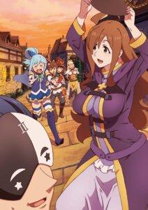 Rating: Safe Score: 35 Tags: aqua_(kono_subarashii_sekai_ni_shukufuku_wo!) armor heels kono_subarashii_sekai_ni_shukufuku_wo! megumin raratina_dustiness_ford satou_kazuma see_through sword tagme thighhighs torn_clothes witch wiz_(kono_subarashii_sekai_ni_shukufuku_wo!) User: saemonnokami