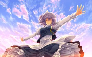Rating: Safe Score: 19 Tags: letty_whiterock nekominase touhou wallpaper User: Konngara