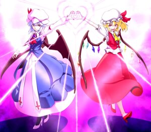 Rating: Safe Score: 3 Tags: flandre_scarlet kenntairui remilia_scarlet touhou wings User: Radioactive