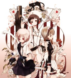 Rating: Safe Score: 20 Tags: garter gun headphones maid maruino nurse User: Nekotsúh