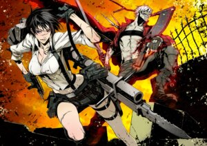 Rating: Safe Score: 35 Tags: cleavage dante devil_may_cry gun heterochromia lady miwa_shirow User: Radioactive