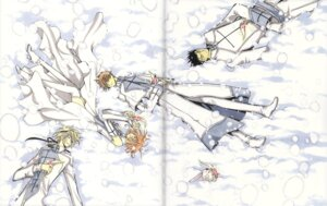Rating: Safe Score: 6 Tags: clamp crease fai_d._flourite kinomoto_sakura kurogane li_syaoran mokona thighhighs tsubasa_reservoir_chronicle User: LulukoVladmont
