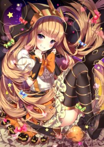 Rating: Safe Score: 66 Tags: cagliostro_(granblue_fantasy) granblue_fantasy halloween homarerererere thighhighs User: Mr_GT