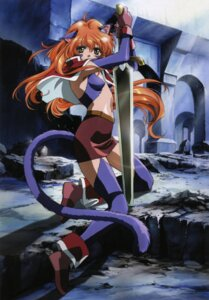 Rating: Safe Score: 15 Tags: animal_ears nekomimi nina rin_sin sword tail words_worth User: Wraith