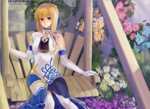 Rating: Safe Score: 15 Tags: dress fate/stay_night kenbou saber thighhighs User: Mr_GT