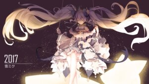 Rating: Safe Score: 50 Tags: dress hatsune_miku vocaloid xinshijie_de_akalin yuki_miku User: charunetra