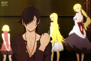 Rating: Questionable Score: 65 Tags: araragi_koyomi bakemonogatari dress iwasaki_taisuke kissshot_acerolaorion_heartunderblade kizumonogatari oshino_shinobu pointy_ears see_through User: drop