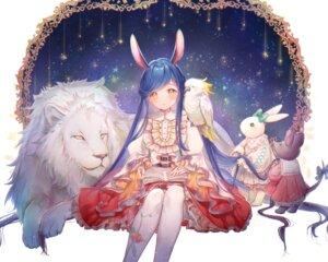 Rating: Safe Score: 14 Tags: animal_ears bunny_ears pantyhose skirt_lift tagme User: BattlequeenYume