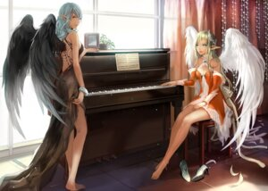 Rating: Safe Score: 55 Tags: cleavage ddongu dress heels pointy_ears wings User: blooregardo