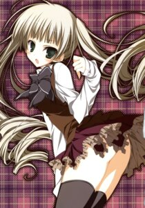 Rating: Questionable Score: 39 Tags: ebiten inugami_kira iseda_yuka nopan seifuku thighhighs User: crim