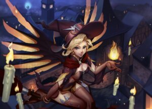 Rating: Safe Score: 48 Tags: cleavage halloween mercy_(overwatch) overwatch thighhighs wings witch yume_ou User: Mr_GT