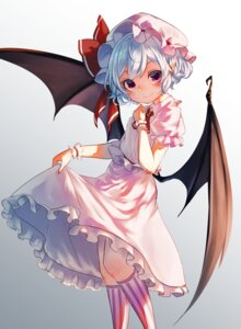 Rating: Safe Score: 34 Tags: dress pointy_ears pyonsuke0141 remilia_scarlet skirt_lift touhou wings User: nphuongsun93