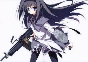 Rating: Safe Score: 23 Tags: akemi_homura gun pantyhose puella_magi_madoka_magica suzuri tennenseki User: oldwrench