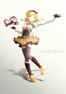 Rating: Safe Score: 13 Tags: puella_magi_madoka_magica skirt_lift tagme thighhighs tomoe_mami User: saemonnokami