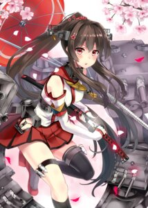 Rating: Safe Score: 59 Tags: kantai_collection sword thighhighs warirui yamato_(kancolle) User: fairyren