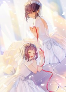 Rating: Safe Score: 19 Tags: dress see_through simanerikotton wedding_dress yuri User: Dreista