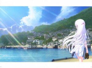Rating: Safe Score: 20 Tags: key landscape na-ga naruse_shiroha seifuku skirt_lift summer_pockets summer_pockets_reflection_blue User: marechal