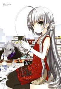 Rating: Safe Score: 40 Tags: dress haiyore!_nyaruko-san koin nyaruko pantyhose shantak-kun User: fireattack