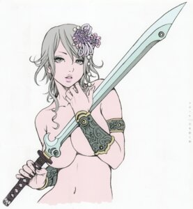 Rating: Questionable Score: 13 Tags: breast_hold naked shion_(yamashita_shunya) sword yamashita_shunya User: Radioactive