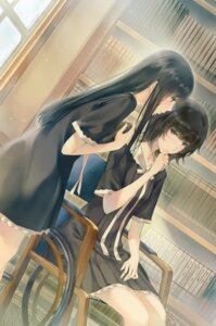 Rating: Safe Score: 31 Tags: flowers innocent_grey seifuku shirahane_suou sugina_miki yaegaki_erika User: Hatsukoi
