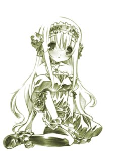 Rating: Safe Score: 23 Tags: dress hayate_no_gotoku katsura_hinagiku lolita_fashion monochrome nopan senomoto_hisashi thighhighs User: fairyren