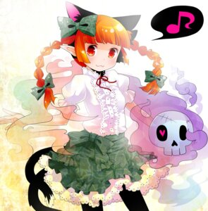 Rating: Safe Score: 15 Tags: animal_ears kaenbyou_rin nekomimi pantyhose tail tanaka_nyan touhou User: Radioactive