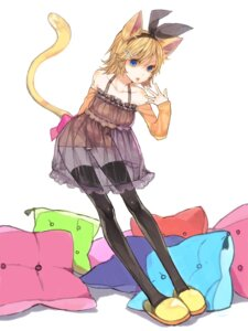 Rating: Questionable Score: 26 Tags: animal_ears kagamine_rin nekomimi pantsu see_through sono tail thighhighs vocaloid User: hobbito