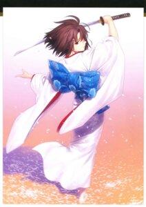 Rating: Questionable Score: 38 Tags: kara_no_kyoukai kimono koyama_hirokazu ryougi_shiki sword takeuchi_takashi type-moon User: fireattack