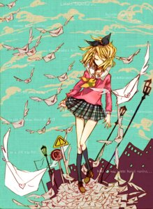 Rating: Safe Score: 10 Tags: kagamine_rin seifuku syllable vocaloid User: Radioactive
