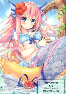 Rating: Safe Score: 40 Tags: bikini chilly_polka cleavage mermaid monster_girl suimya swimsuits tail underboob wet z/x_zillions_of_enemy_x User: kiyoe