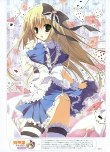 Rating: Questionable Score: 69 Tags: alice alice_in_wonderland dress inugami_kira lolita_fashion nopan thighhighs User: crim