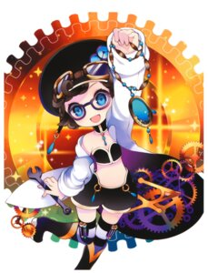 Rating: Safe Score: 13 Tags: kaku-san-sei_million_arthur kenrangata_turquoise megane putidevil thighhighs User: Radioactive